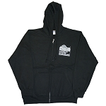 7.75 oz. Full Zip Hooded Sweatshirt - Black