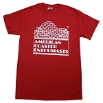 Cotton Tee with ACE Logo - Antique Cherry Red