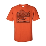 Cotton Tee with ACE Logo - Orange