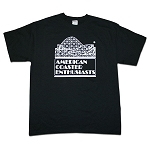 Cotton Tee with ACE Logo - Black