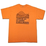 Cotton Tee with ACE Logo - Tangerine