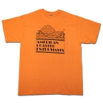 Youth Cotton Tee with ACE Logo - Tangerine