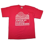 Cotton Tee with ACE Logo - Raspberry