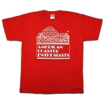 Youth Cotton Tee with ACE Logo - Red
