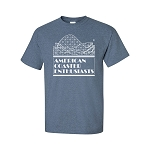 Cotton Tee with ACE Logo - Heather Indigo