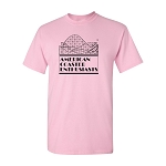 Cotton Tee with ACE Logo - Light Pink