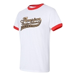 Cotton Ringer Tee with ACE Logo - White/Red