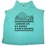 Ladies Cotton Tank Top with ACE Logo - Seafoam