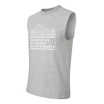Cotton Sleeveless Tee with ACE Logo - Athletic Heather