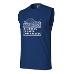 Cotton Sleeveless Tee with ACE Logo - Royal