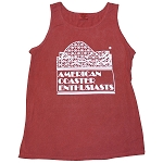 Cotton Tank Top with ACE Logo - Brick