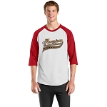 Colorblock Raglan Jersey - White/Red