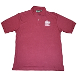 6.8 oz Cotton Pique Basic Polo - Wine
