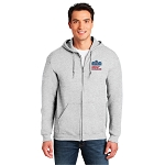 7.75 oz. Full Zip Hooded Sweatshirt - Ash Gray