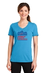 ACE Performance Ladies Tee Aquatic Blue