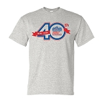 40th Anniversary Tee's -- Ash Grey