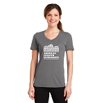 ACE Performance Ladies Tee Medium Gray