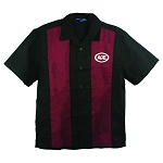 ACE Retro Camp Shirt -- Black/Burgundy