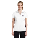 Sport-Tek Ladies PosiCharge RacerMesh Polo with New Logo -- White