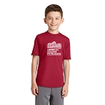 Port & Company Youth Performance Blend Tee with New ACE Logo - Red