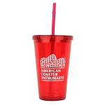 ACE 16oz. Acrylic Tumbler with Straw