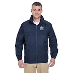 Adult Full-Zip Hooded Pack-Away Jacket - Navy
