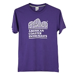 Port & Company Performance Blend Tee with New ACE Logo -- Purple