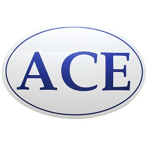 ACE Oval Sticker