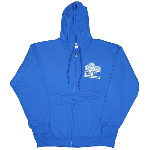 7.75 oz. Full Zip Hooded Sweatshirt - Royal