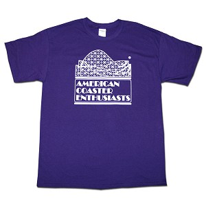 Cotton Tee with ACE Logo - Purple