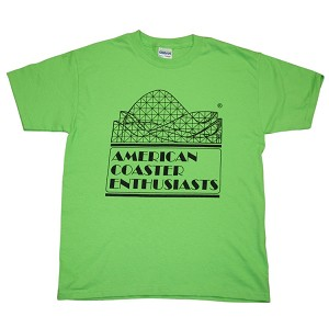 Youth Cotton Tee with ACE Logo - Lime