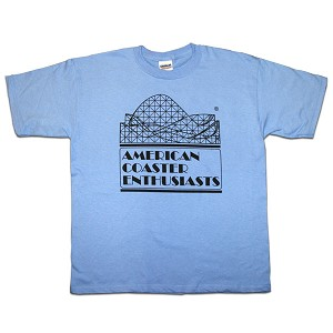 Youth Cotton Tee with ACE Logo - Carolina Blue