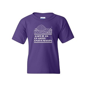Youth Cotton Tee with ACE Logo - Purple