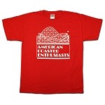 Cotton Tee with ACE Logo - Red