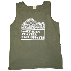 Cotton Tank Top with ACE Logo - Sage