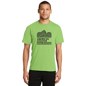 Port & Company Performance Blend Tee with New ACE Logo -- Lime