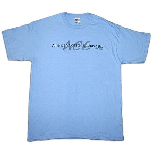 Cotton Tee with ACE Shadow Logo - Carolina Blue