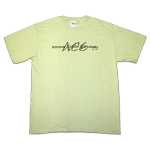 Cotton Tee with ACE Shadow Logo - Serene Green