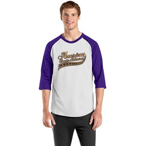 Colorblock Raglan Jersey - White/Purple